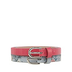 Red Herring - Set of two pink and blue floral skinny belts