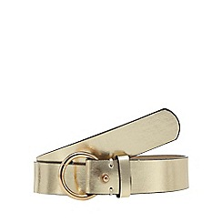 Red Herring - Gold metallic waist belt