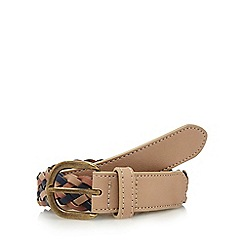 Mantaray - Beige weave detail belt