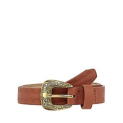 Mantaray - Tan embellished belt