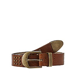 Mantaray - Brown studded belts