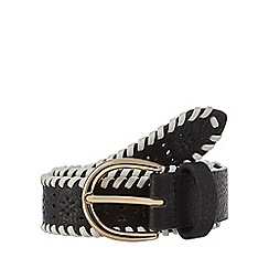 Mantaray - Black cut-out woven belt