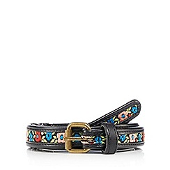 Mantaray - Black embroidered belt