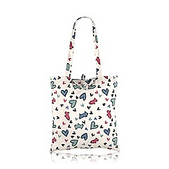 Radley - Ivory nylon 'Love Me, Love My Dog' Foldaway tote bag