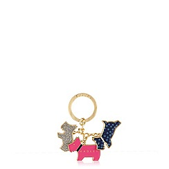 Radley - Multi-coloured metal 'Night Shift' keyring
