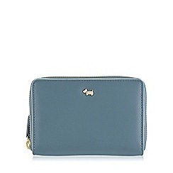Radley - Medium blue leather 'Blair' zip around purse