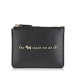 Radley - Small black leather 'Excuses, Excuses!' pouch