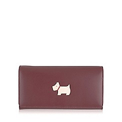 Radley - Large burgundy leather 'Heritage Dog' matinee purse