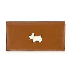 Radley - Large Tan leather 'Heritage Dog' matinee purse