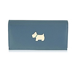 Radley - Large blue leather 'Heritage Dog' matinee purse