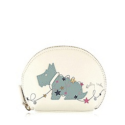 Radley - Small ivory leather 'In Lights' coin purse