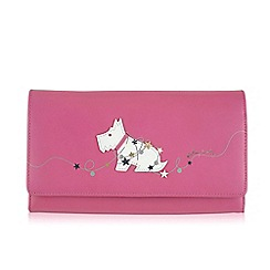 Radley - Large pink leather 'In Lights' matinee purse