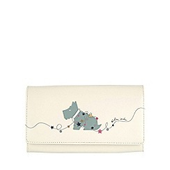 Radley - Large ivory leather 'In Lights' matinee purse
