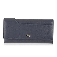 Radley - Large navy leather 'Pocket Bag' matinee purse