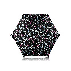 Radley - Mini black 'Love Me, Love My Dog' telescopic umbrella