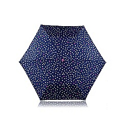Radley - Mini navy 'Vintage Dog Dot' telescopic umbrella