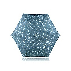 Radley - Mini blue 'Vintage Dog Dot' telescopic umbrella
