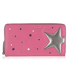 Radley - Large pink leather 'Night Shift' matinee purse