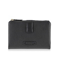 Radley - Medium black leather 'Tetbury' tab purse
