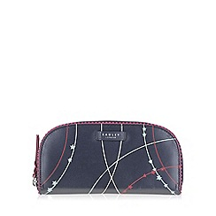 Radley - Large navy leather 'Constellation' matinee purse