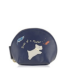 Radley - Birds of a feather navy small zip around coin purse