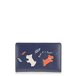 Radley - Navy 'Birds Of A Feather' medium zip purse