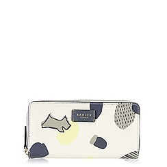 Radley - Ivory Dash Dog large zip around matinee purse