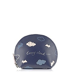 Radley - Navy 'Every Cloud' small coin purse