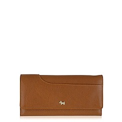 Radley - Tan Pocket Bag large slim flapover purse