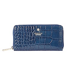 Modalu - Blue Pippa zip around purse