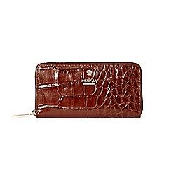 Modalu - Chocolate Pippa zip around purse
