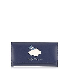 Radley - Navy 'Silver Lining' large trifold matinee purse