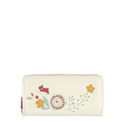 Radley - Ivory Springtime large zip around matinee purse