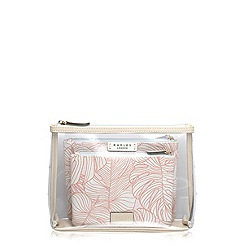 Radley - Pale pink Wild Palms large zip pouch set