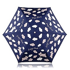 Radley - Navy 'Every Cloud' mini telescopic umbrella