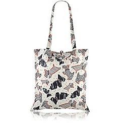 Radley - White 'Fleet Street' foldaway tote bag
