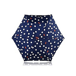 Radley - Navy 'Summer Fig' polka dog mini umbrella