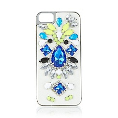 Skinnydip - Silver gem embellished iPhone 5/5s case