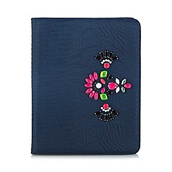 Skinnydip - Grey snake embellished iPad case