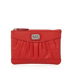 Osprey London - Red leather pleated small purse