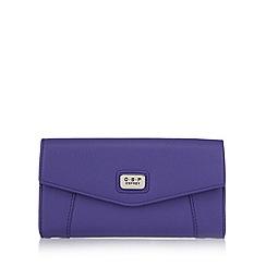 Osprey London - Purple leather large envelope purse