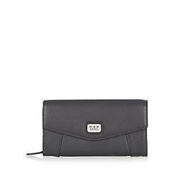 Osprey London - Black leather large envelope purse