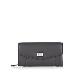 Osprey London - Black leather large envelope purse