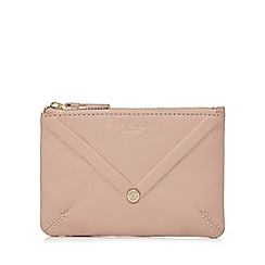Bailey & Quinn - Light pink leather envelope detail coin purse
