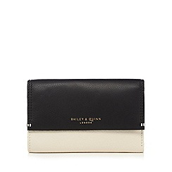 Bailey & Quinn - Black leather colour block purse