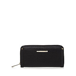 J by Jasper Conran - Black zip large purse