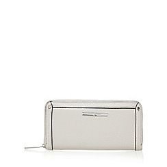 J by Jasper Conran - Grey leatherette zip detail purse