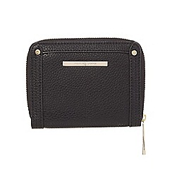 J by Jasper Conran - Black stud and zip small purse