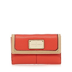 J by Jasper Conran - Orange leatherette medium purse