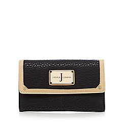 J by Jasper Conran - Black grained leatherette purse